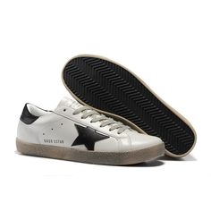 promo code b1a0b 0bcdf Nouveau 2014 Golden Goose Super Star Sneakers GGDB Blanco Negro Sale Fresh  Kicks, Super Star