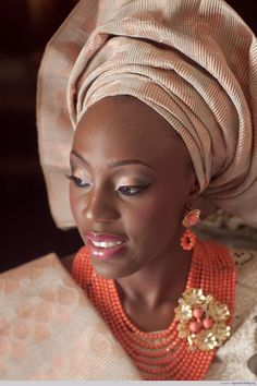 Beautiful Gele and stunning jewelry!