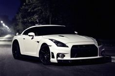 Nissan GTR R35 White Car Poster