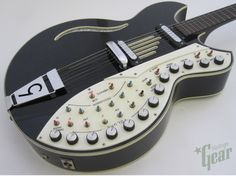 "Vintage 1976 Godwin ""Guitorgan,"" a synth guitar made by Sisme. - via Matrixsynth.com"