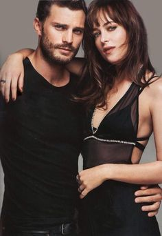 Jamie Dornan and Dakota Johnson for Glamour (US March)