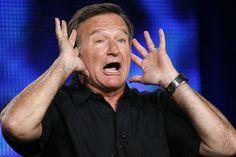 "Robin Williams--talented comedian, movie star, TV star, talk show guest. Always ""Seize the Moment,"" Robin. Robin Williams Comedy, Robin Williams Death, Robin Williams Quotes, Matt Damon, Aladdin, Madonna, Comedy Roast, Madame Doubtfire, Celebrity Deaths"