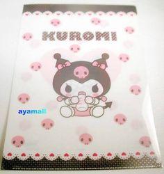 Sanrio Japan BABY kuromi A4 clean file/folder my melody