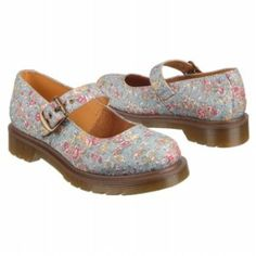 """Dr. Martens """"Mary"""" in a blue floral print"""