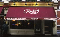Rule's - Famous London Restaurants
