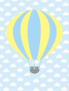 balão, arte balão, arte infantil, balão para menino, balão, quarto azul, quarto balão, decoração balão, decoração para meninos, quadro balão, poster balão, arte decorativa, interiores, design, desenho infantil, kids, bebê, arte para bebês, recém nascido, crianças, meninos - BALÃO AZUL C AMARELO Air Balloon, Balloons, Coco Baby, Kids Background, Baby Posters, Project Life Cards, Flower Phone Wallpaper, Baby Album, Baby Sprinkle