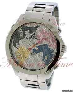 "Jacob & Co. . Five Time Zone 47mm ""The World is Yours"", Diamond World Map Dial - Stainle"
