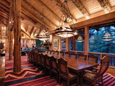 Luxury 5000 Royal Street Huntsman Estate in Upper Deer Valley, Utah Cabin Kitchens, Dream Kitchens, Park City Utah, Lake Cabins, Log Cabin Homes, Architect House, Winter House, Rustic Design, My Dream Home