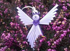 Angel on a comb | Quilling Owl