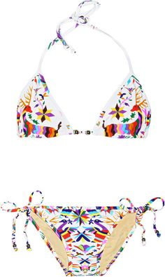 d1d8a44039f65 Mara Hoffman - Multicolor Techno Animal Printed Triangle Bikini - Lyst