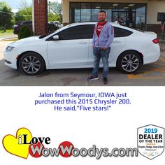 Congratulations to Jalon on his awesome new to him ride! 🎉 Shop our Chrysler 200's by clicking the link!