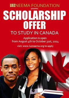 Luzneema Foundation offers a scholarship to study in Canada. Learn more about this opportunity here!
