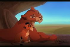 *URU and her cub TAKA aka: SCAR resting in a quiet place. Our secret place by WhiteKimya on DeviantArt
