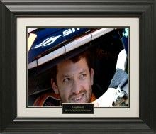 Tony Stewart Photo Matted and Framed