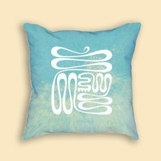 18 inch pillow featuring a contemporary, beachy redesign of the Adinkra ideographic symbol, Nkyinkyim, referencing the twists and turns in life. Illustration by Viquest Creative. Includes pillow insert.
