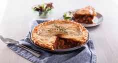 Turn to this delicious cold weather favourite as soon as winter hits. Beef Pies, Flaky Pastry, Looks Yummy, Winter Recipes, Oven Baked, Winter Food, Pie Dish, Main Meals, No Cook Meals