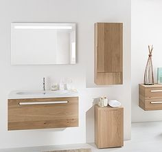 meuble salle de bain bois massif espace aubade - Meuble Delpha Unique Onde