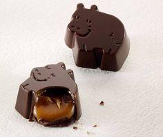 Dreamy chocolate hippos by Baru