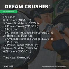 Crossfit Workouts At Home, Weight Training Workouts, Fit Board Workouts, Workout Board, Vacation Workout, John Kim, Emom Workout, Hiit Class, Kettlebell Swings