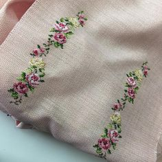 It's better than Tinder! Cross Stitch Letters, Cross Stitch Rose, Cross Stitch Flowers, Cross Stitching, Cross Stitch Embroidery, Hand Work Design, Palestinian Embroidery, Hand Work Embroidery, Beaded Purses