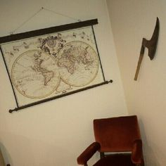 Our magnificent canvas maps make special interiors even more special!