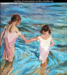 children in the sea joaquin sorolla y bastida impressionism art for sale at Toperfect gallery. Buy the children in the sea joaquin sorolla y bastida impressionism oil painting in Factory Price. Art Plage, Most Famous Paintings, Spanish Painters, Inspiration Art, Oil Painting Reproductions, Beach Scenes, Beach Art, Art Plastique, Oeuvre D'art