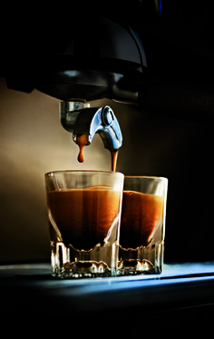 A good espresso should look like Guinness settling slowly, revealing a thick, persistent crema.