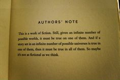 Author's note.
