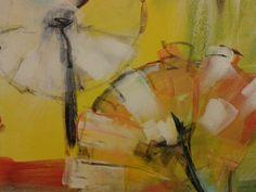 Paardebloem,  (detail) acryl Diana Mol
