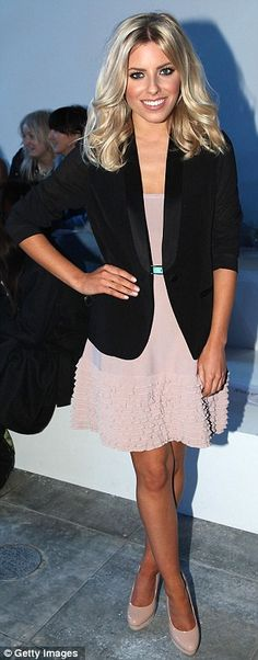 Mollie King on the front row for Fashion East at London Fashion Week