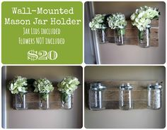of Dwelling and Dress: Mason Jar Holders { For Sale! }  ONLY FOUR LEFT!!!