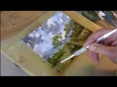 A speeded-up watercolour landscape demonstration showing how I tackle an improvised scene with an angry, windy sky, distant mountains and some trees. Comments welcome and appreciated.