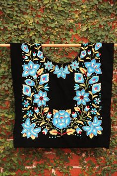 Beautiful black and blue  Vintage Huipil from Oaxaca by CasaOtomi Mexico, Tenango, mexican wedding, textile, mexican suzani, suzani, embroidery, hand embroidered, otomi, www.casaotomi.com, otomi, table runner, fiber art, mexican, handmade, original, authetic, textile , mexico casa, mexican decor, mexican interior, frida, kahlo, mexican folk,  folk art, mexican house, mexican home, puebla collection, las flores, travel tote, boho, tote, handbag, purse, cushion, serape