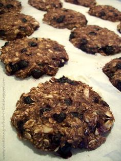 Blueberry Almond Banana Oat Breakfast Cookies ~ so much breakfast goodness, all rolled up into a tasty breakfast cookie!  Who says you c...