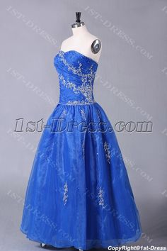 1st-dress.com Offers High Quality Royal Blue Organza Quinceanera Dresses for Ball Gown,Priced At Only US$198.00 (Free Shipping)
