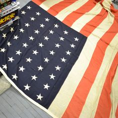 kasbah vintage: 48 star american flag - officially in use betwen 1912 and 1960.