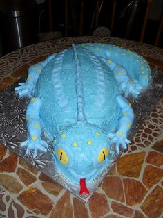 Lizard cake party ideas pinterest lizard cake cake and lizard cake i made for a boy named dylan turning 7 years old pronofoot35fo Choice Image