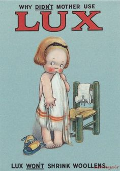 MABEL LUCIE ATTWELL Advertising Postcard Why Didn't Mother Use LUX Won't SHRINK | eBay