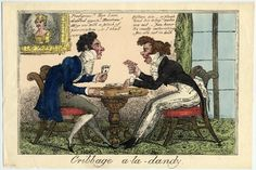 © The Trustees of the British Museum  Cribbage a-la-Dandy.  Hand-coloured etching, by George Cruikshank