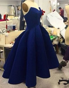 Cute Homecoming Dress,Simple Ball Gown Short Dark Blue Prom Dress for Teens…