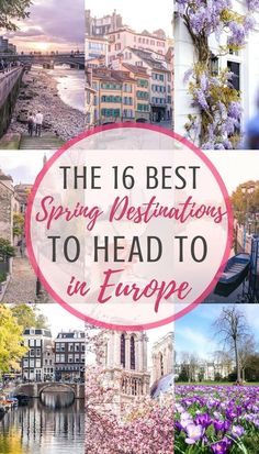 The 16 best spring destinations in Europe. Which cities to visit in the early months of the year. Where to see spring blossom in Europe and which festivals to attend! Cities include Dusseldorf, Dublin, Porto, and Bergamo #BestCities