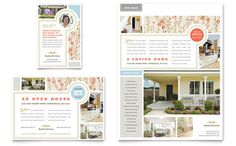 Real Estate Home for Sale Flyer and Ad Template Design by StockLayouts