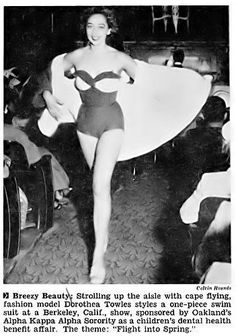 1950, DOROTHEA TOWLES Born in Texarcana in 1922, gorgeous Dorothea Towles was the first top Black model to work in Paris.