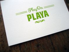 "Gangsta Card ""Play On Playa"". $5.00, via Etsy."