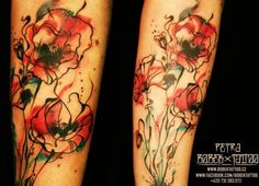 Love watercolor tattoos. This one is gorgeous!