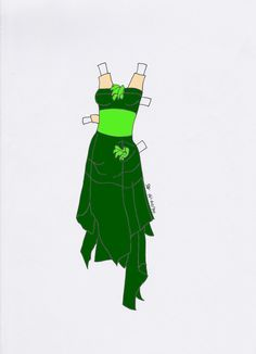 Paperdoll dress 2 green by Etchingz on deviantART