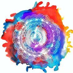 GLOBE TROTTING GYPSIES Tie-Dye Mandala