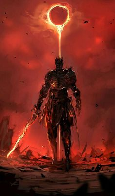 Dark Souls- Red and Black don't have to symbolize evil. Forget the fires of Hell. The grave is cold. It is the Heavenly Fire that breeds life. Fantasy Armor, Medieval Fantasy, Dark Fantasy Art, Dark Art, Fantasy Dragon, Fantasy Character Design, Character Art, Soul Saga, Arte Dark Souls