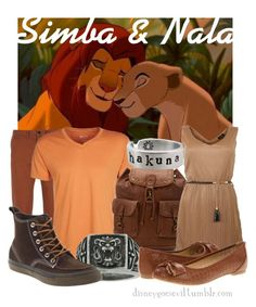 Simba  amp  Nala by disney-villains on Polyvore featuring polyvore efe8fee020