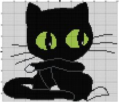 Cat free cross stitch pattern